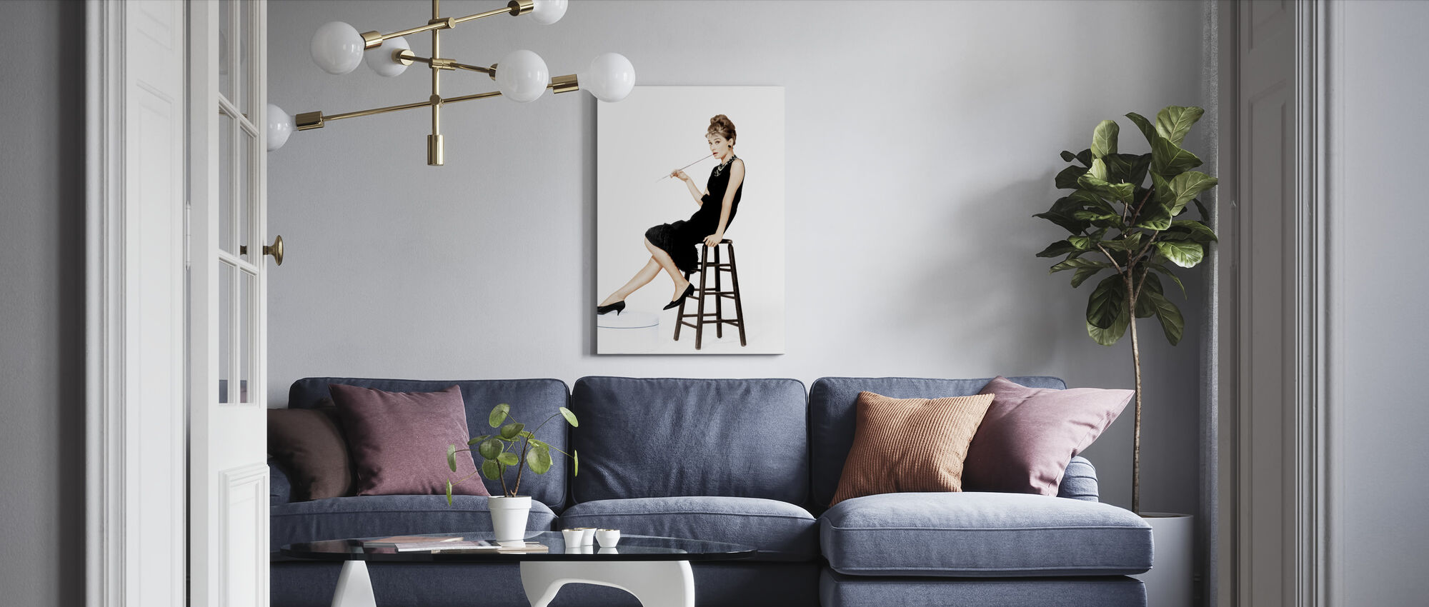 Holly Golightly - Canvas print - Living Room