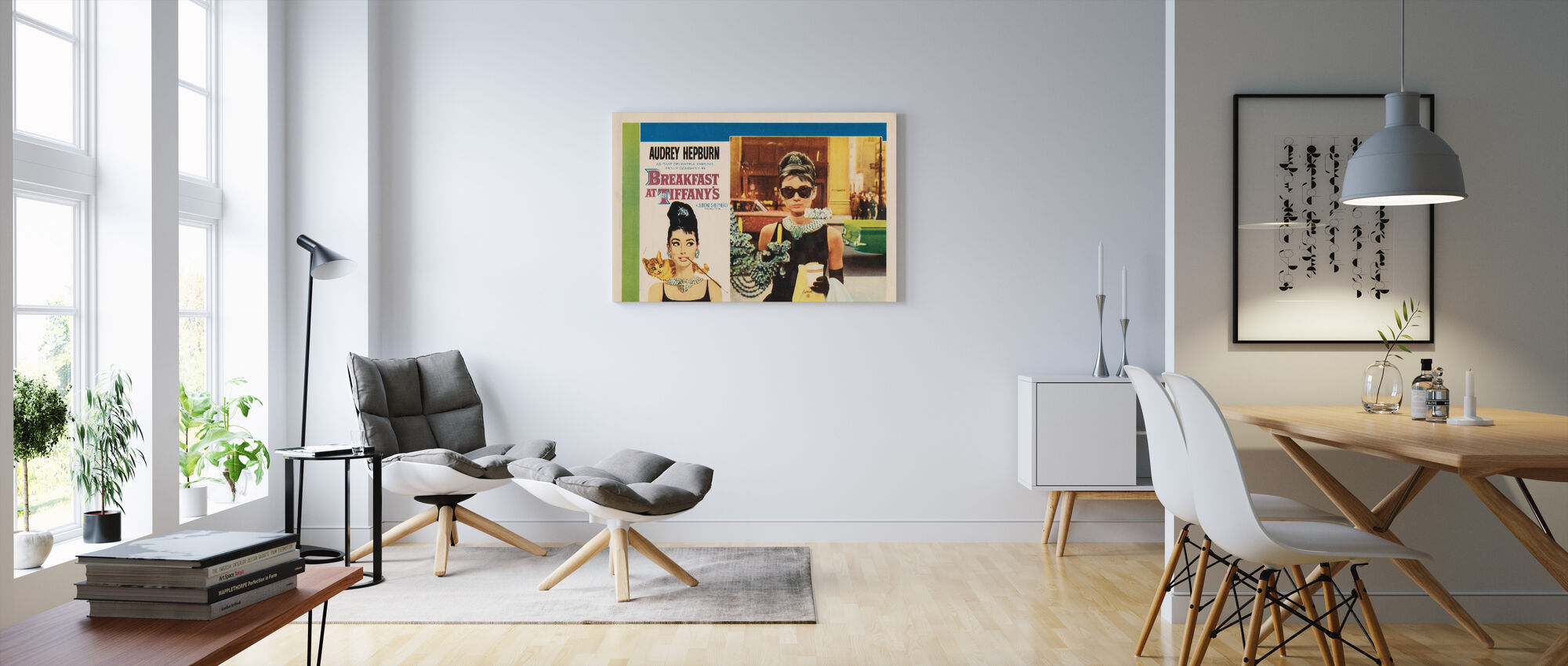 Movie Poster Breakfast at Tiffany's - Canvas print - Living Room