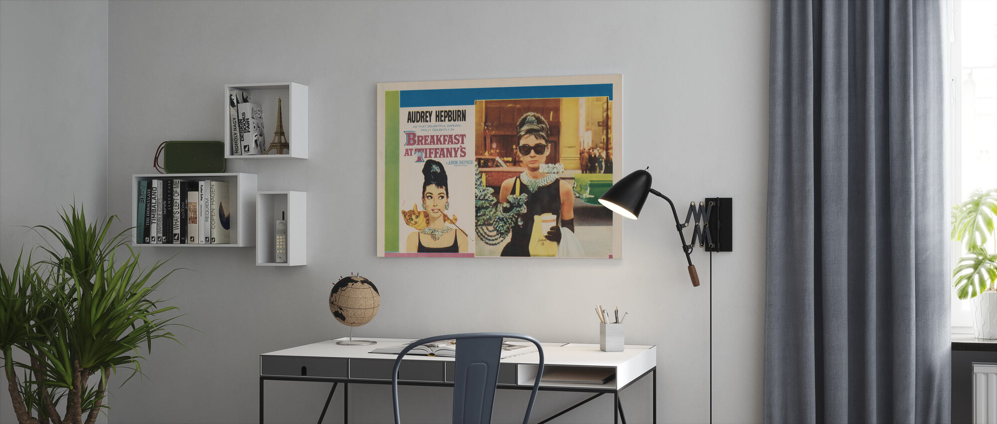 Film affisch Frukost på Tiffany's - Canvastavla - Kontor