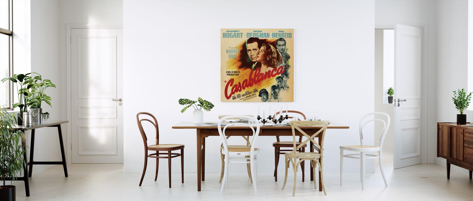 movie poster casablanca leinwandbild nach ma photowall. Black Bedroom Furniture Sets. Home Design Ideas
