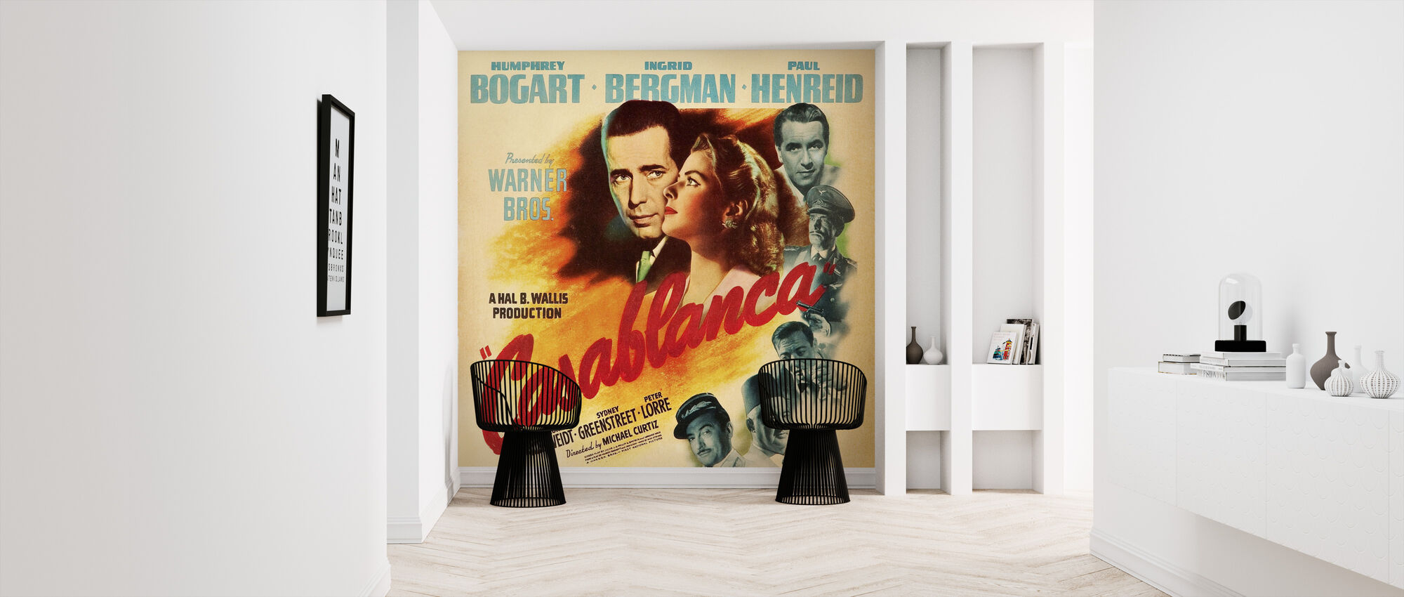 Filmposter Casablanca - Behang - Gang