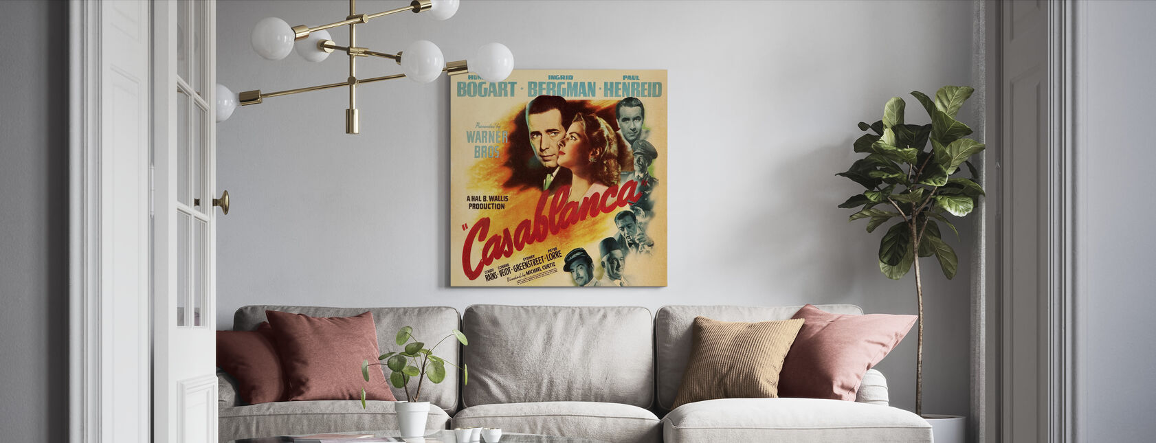 Movie Poster Casablanca - Canvas print - Living Room