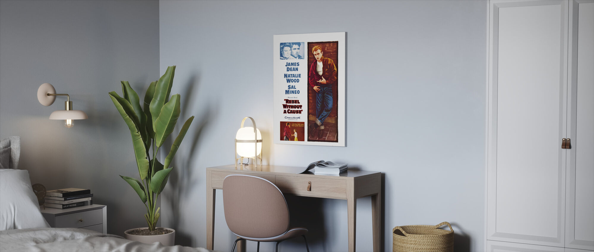 Movie Poster Rebel without a Cause - Canvas print - Office