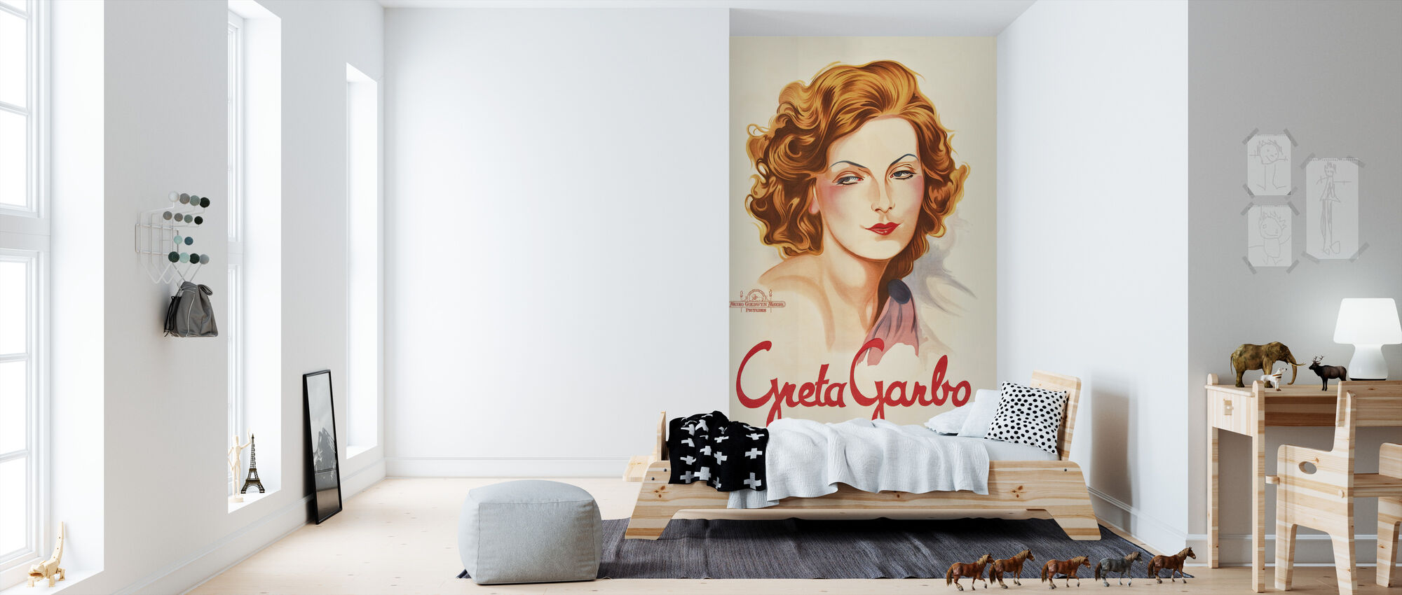 Oude Movie Star Poster - Behang - Kinderkamer