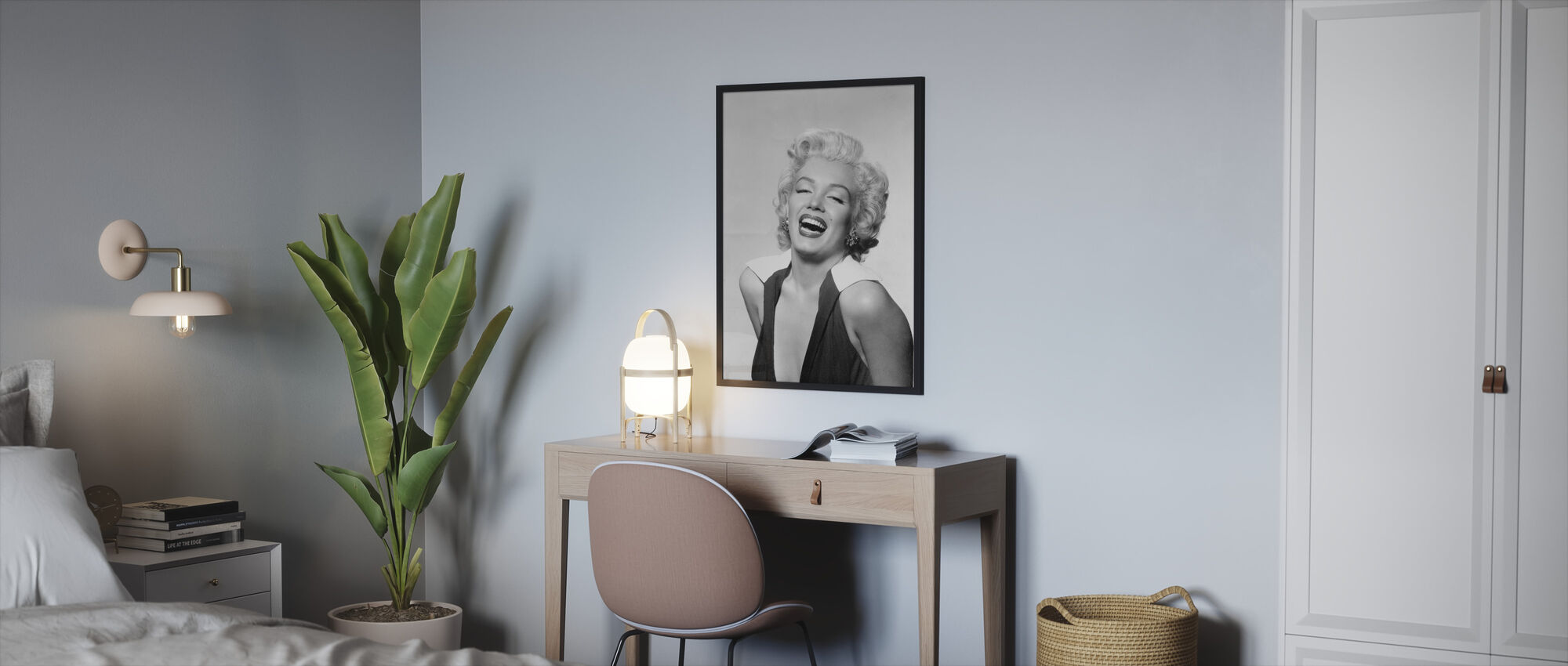 Queen of the Fifties - Framed print - Bedroom