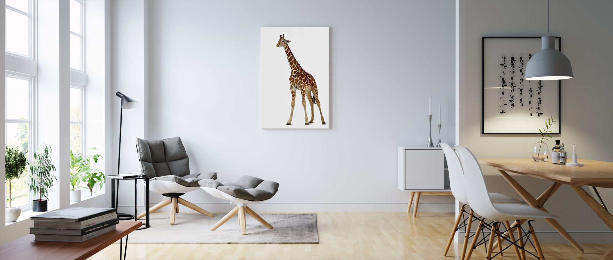Young Giraffe - Canvas print - Living Room
