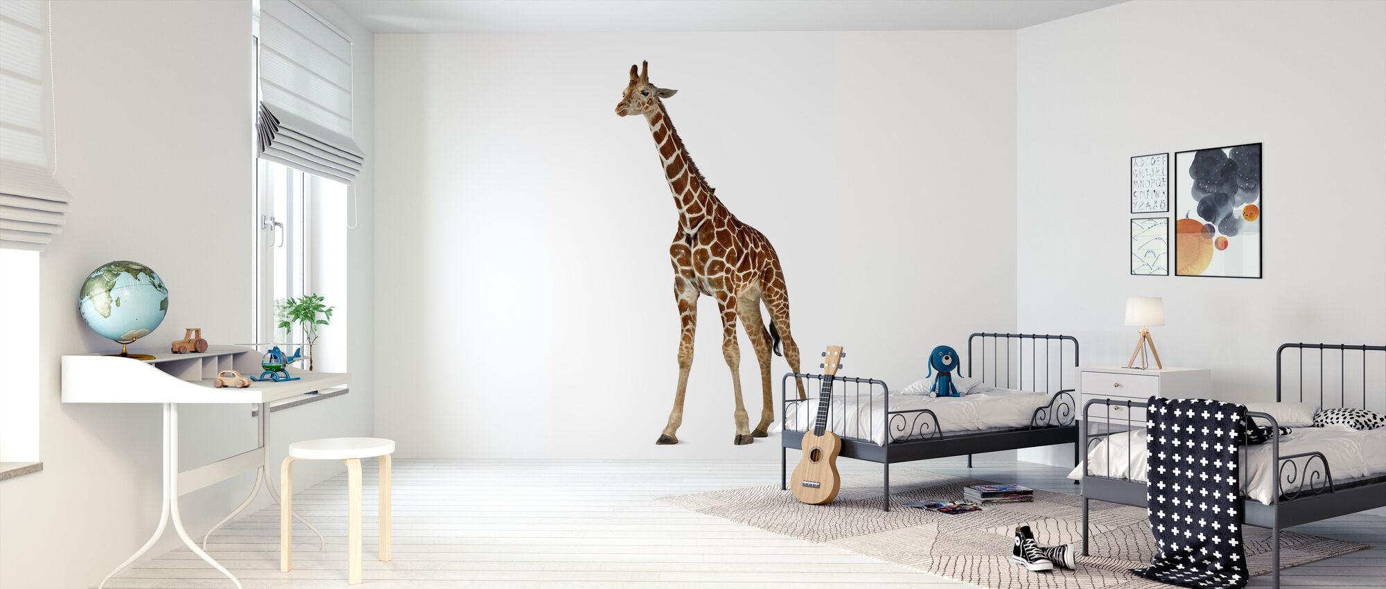 Ung giraff - Tapet - Barnrum