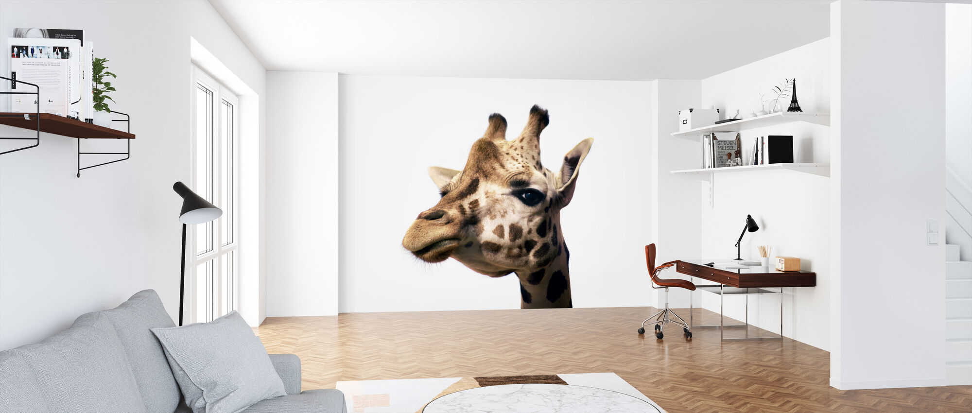Portrait of a Giraffe - Wallpaper - Office