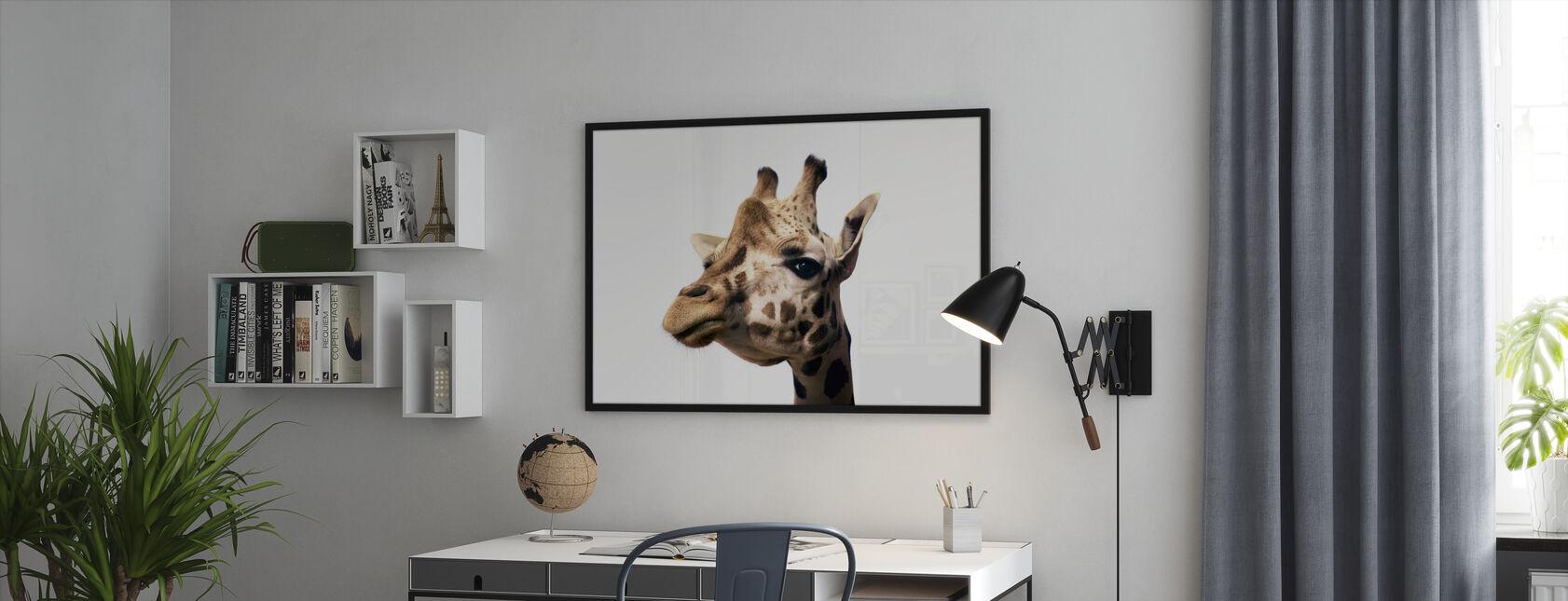 Portrett Av En Giraff - Innrammet bilde - Kontor