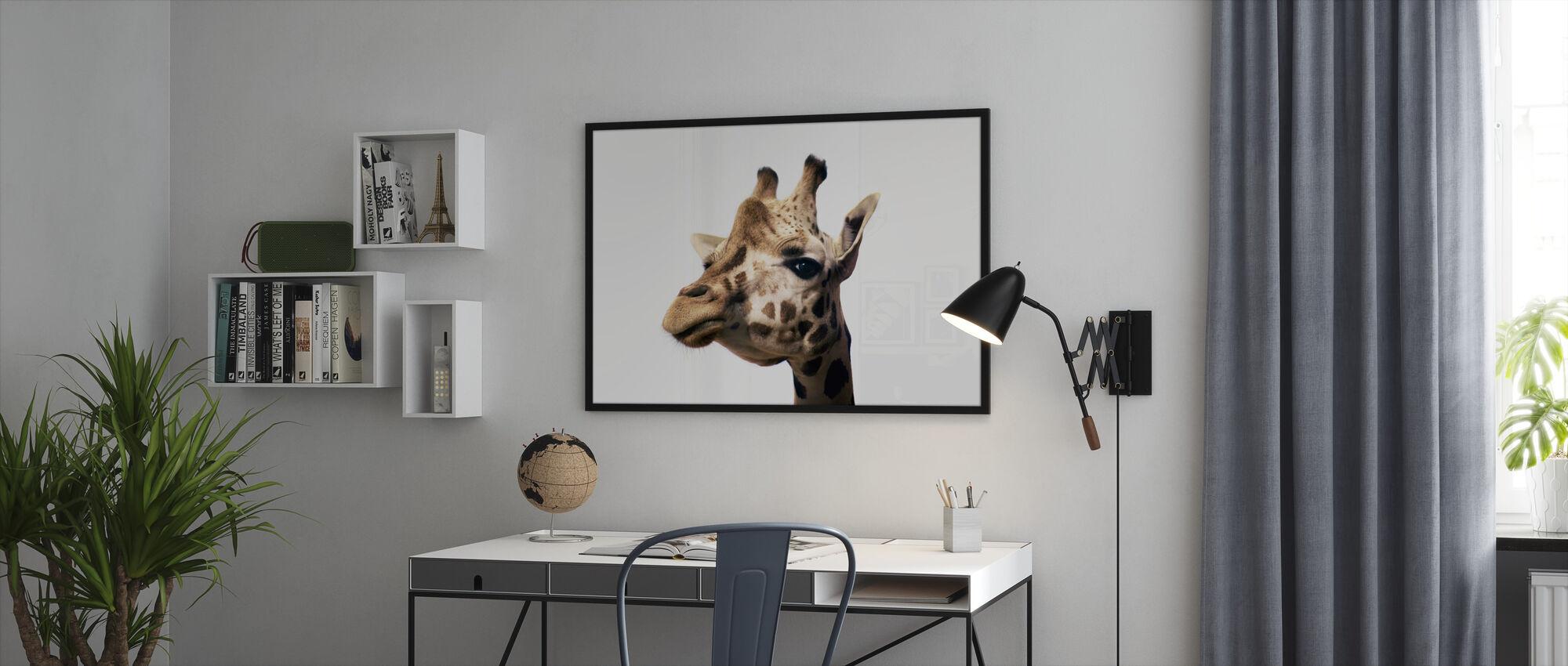 Portrait of a Giraffe - Framed print - Office