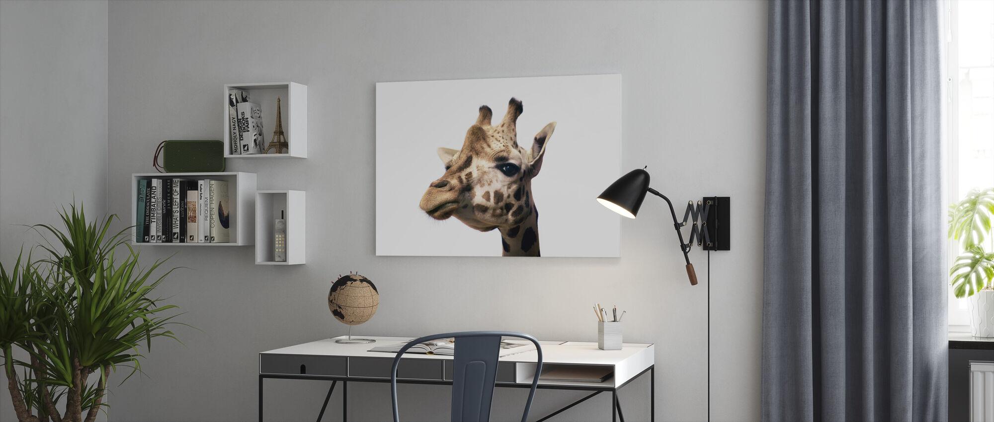 Portrait of a Giraffe - Canvas print - Office