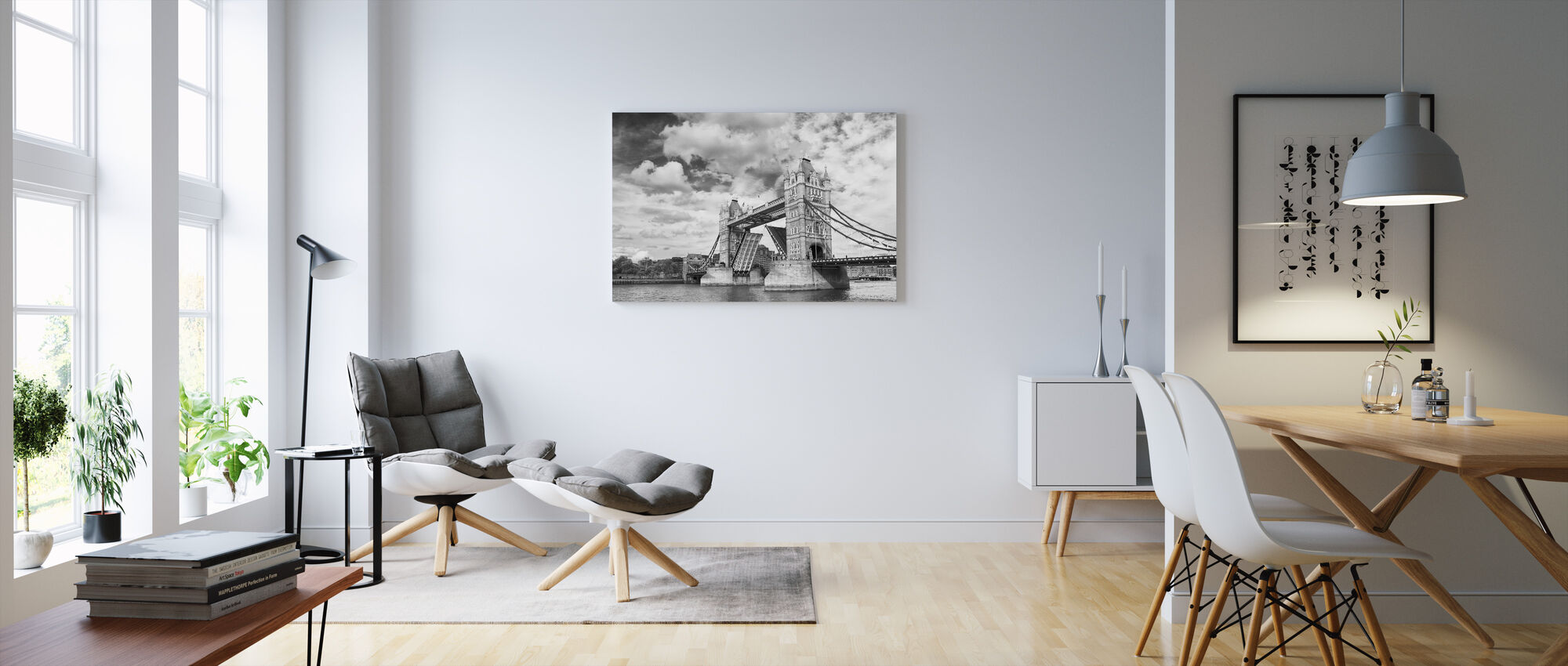 Tower Bridge Opening - Canvas print - Living Room
