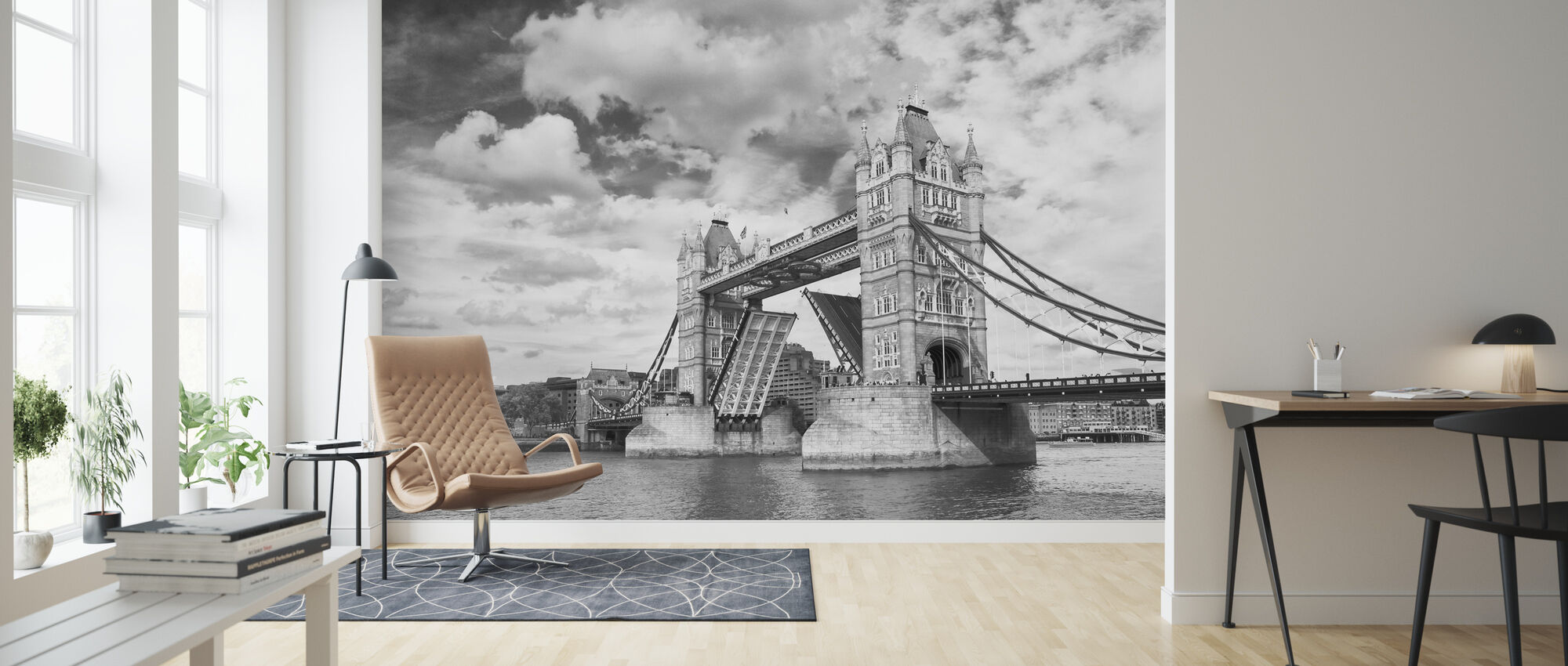 Tower Bridge Opening - Wallpaper - Living Room