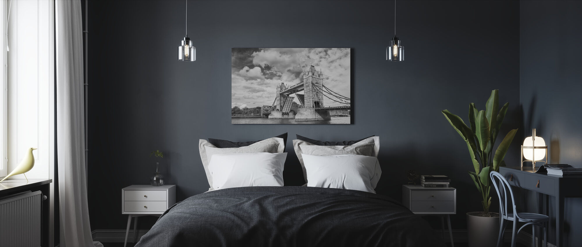Tower Bridge Opening - Canvas print - Bedroom