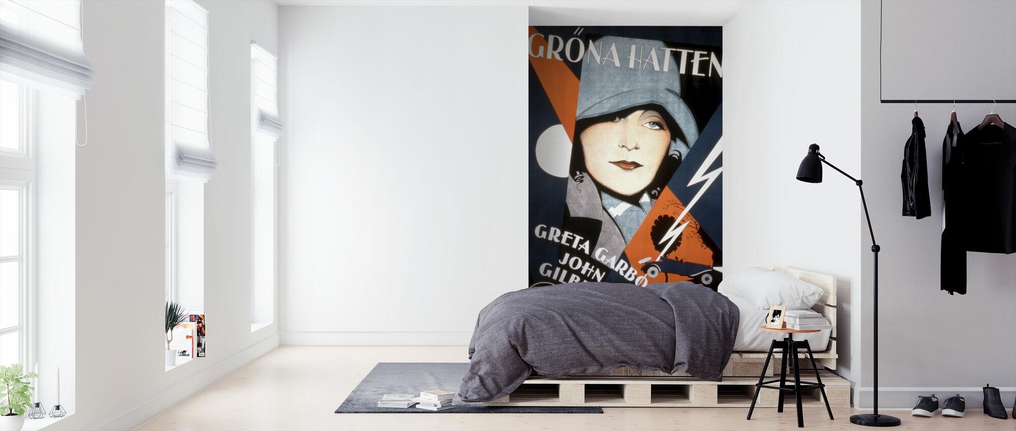 Zweedse filmposter Een vrouw van zaken - Behang - Slaapkamer