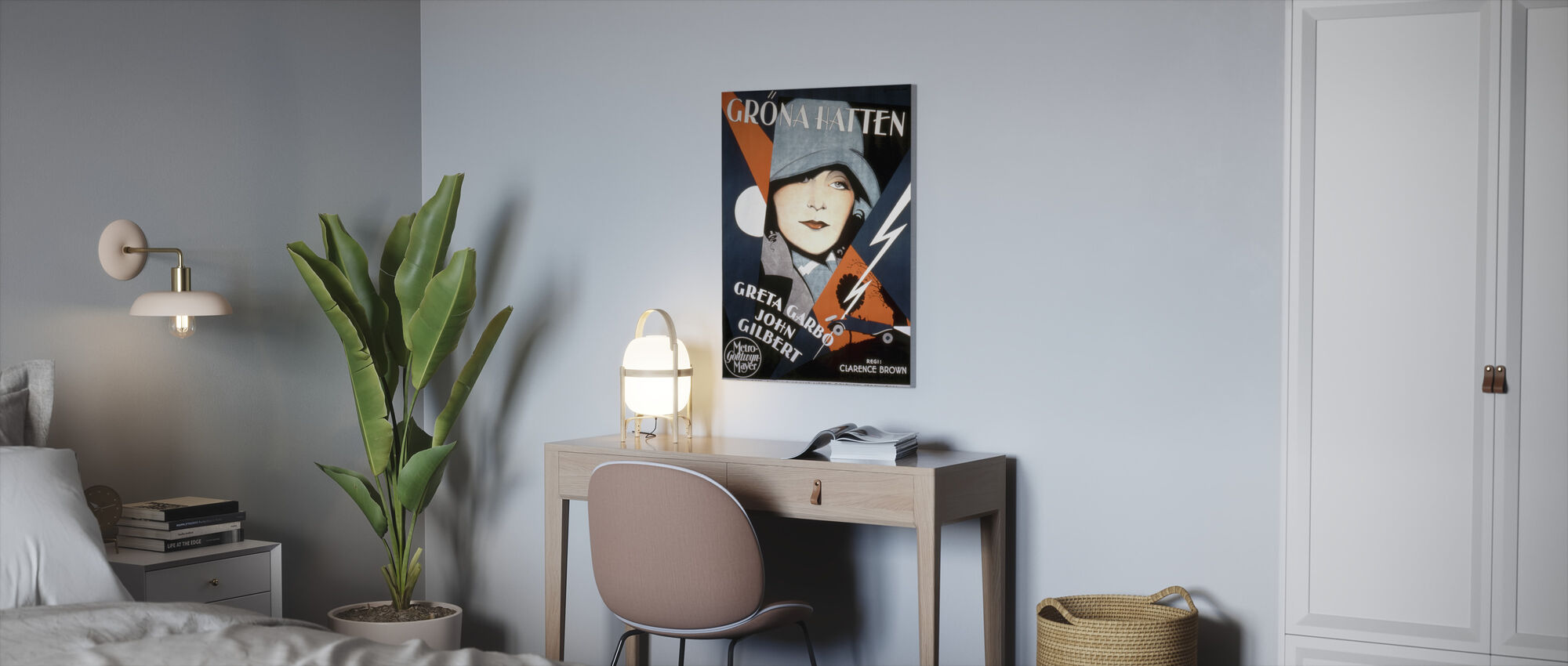 Swedish Movie Poster A Woman of Affairs - Canvas print - Office