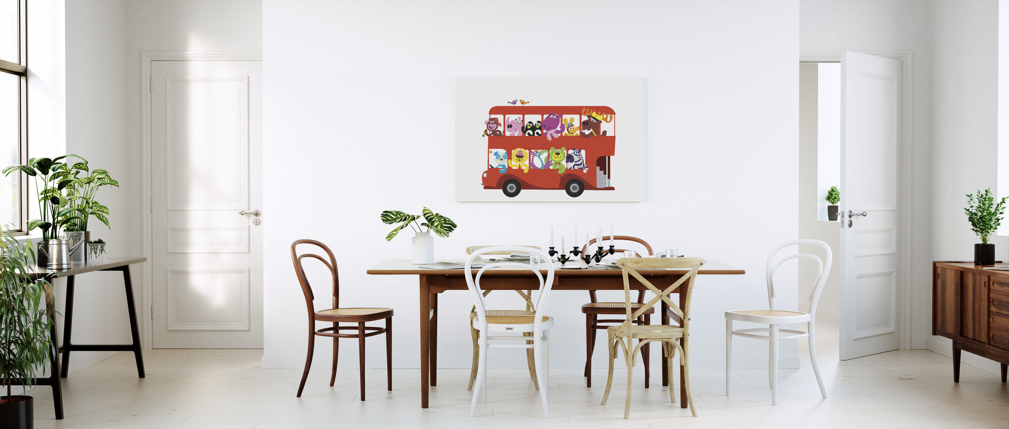 All on Board the Marsh Mellow Island Bus - Canvas print - Kitchen