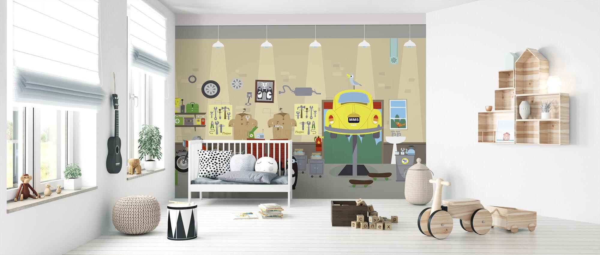 Flappa ja Floppa sisällä Mellow Motors - Tapetti - Vauvan huone