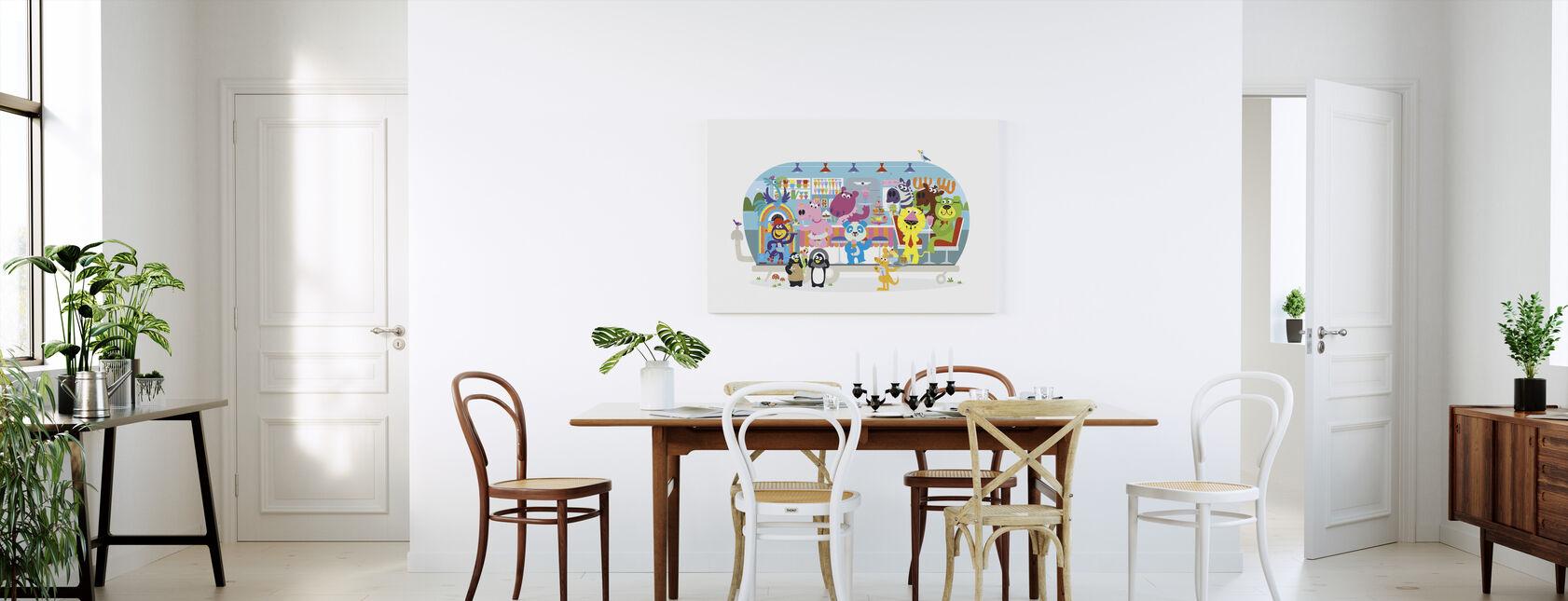 Fun liefhebbende Betsys Hippo Hop Diner - Canvas print - Keuken