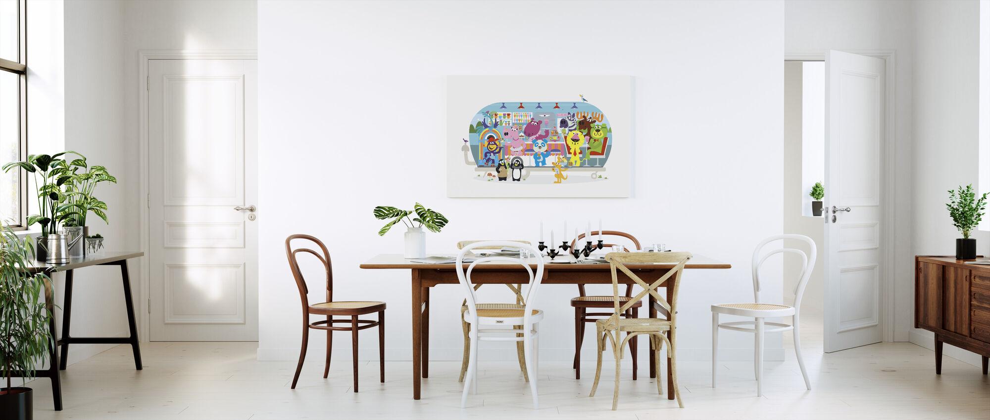Moro-elskende Betsys Hippo Hop Diner - Lerretsbilde - Kjøkken
