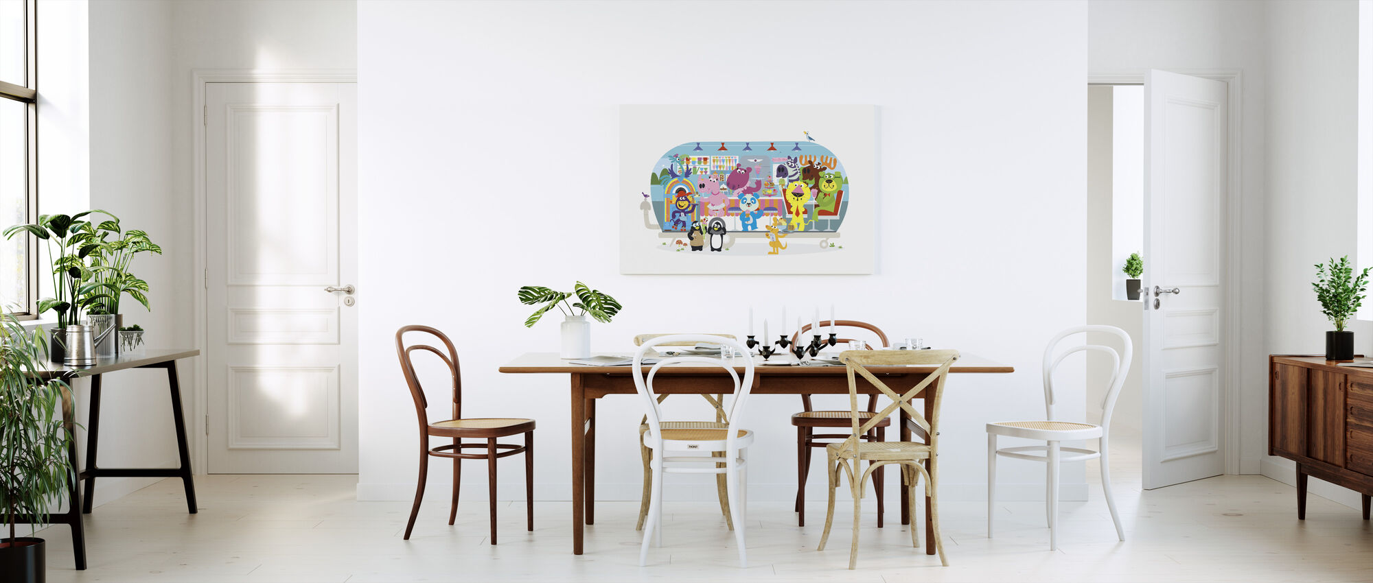 Hauskan rakastava Betsys Hippo Hop Diner - Canvastaulu - Keittiö