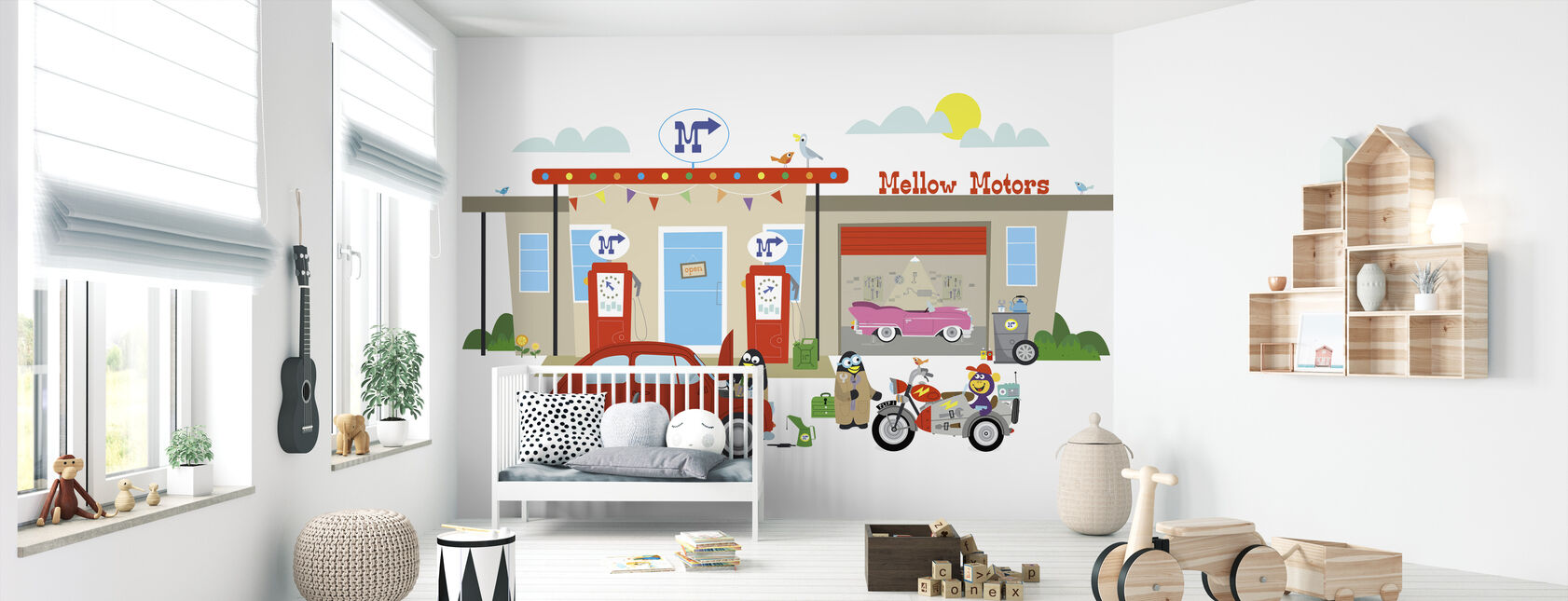 Rockhoppers Mellow Motors - Wallpaper - Nursery