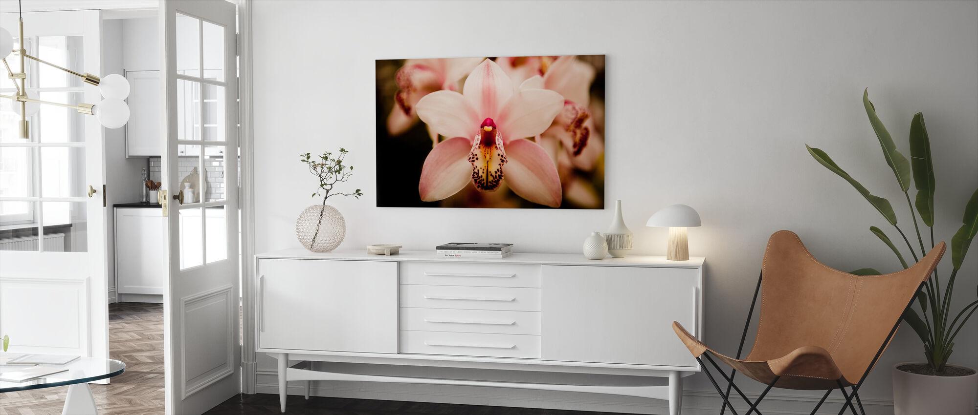 Deep Cut Orchid - Canvas print - Living Room