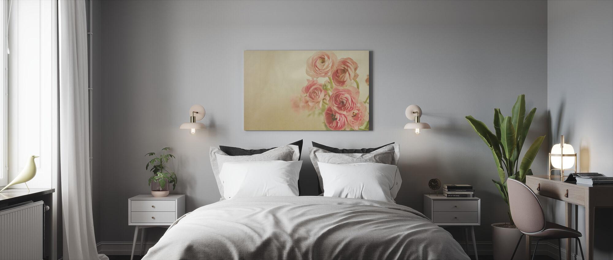 Pink Ranunculus - Canvas print - Slaapkamer