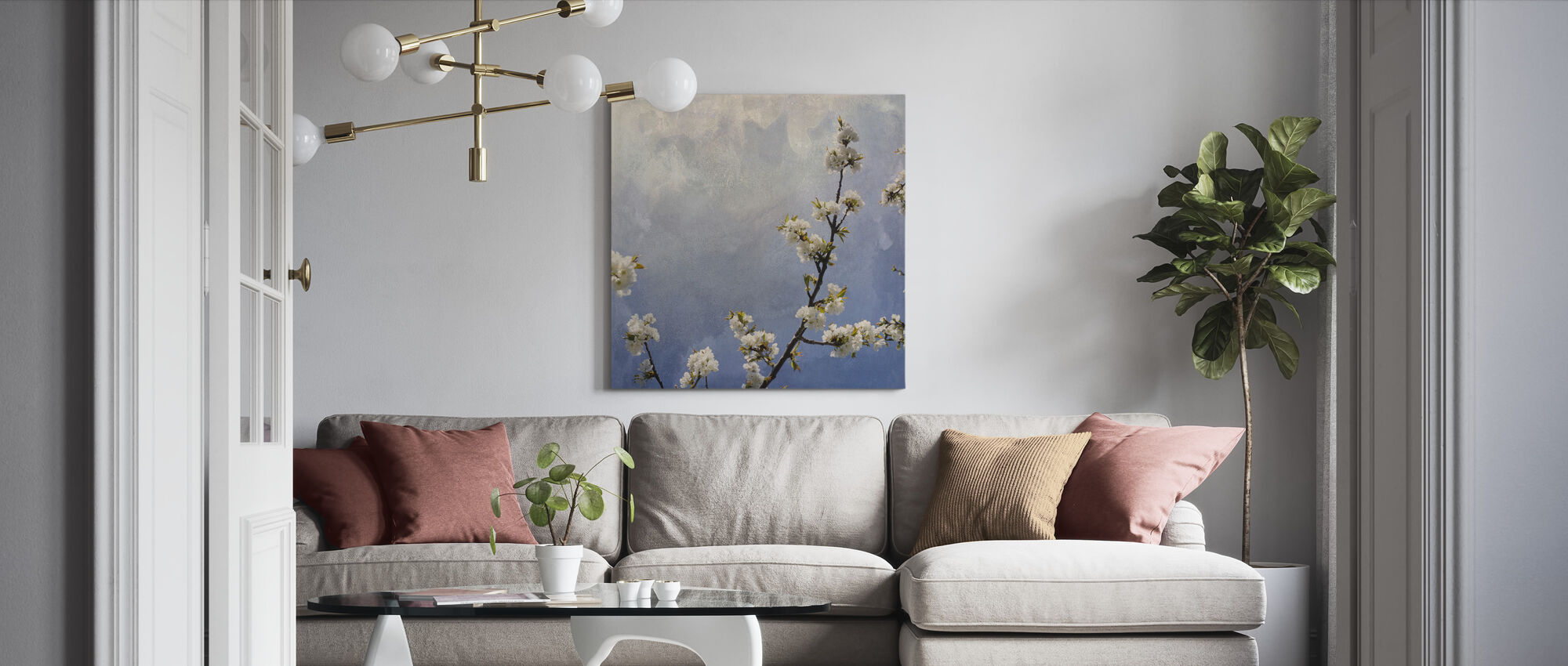 Apple-tak - Canvas print - Woonkamer