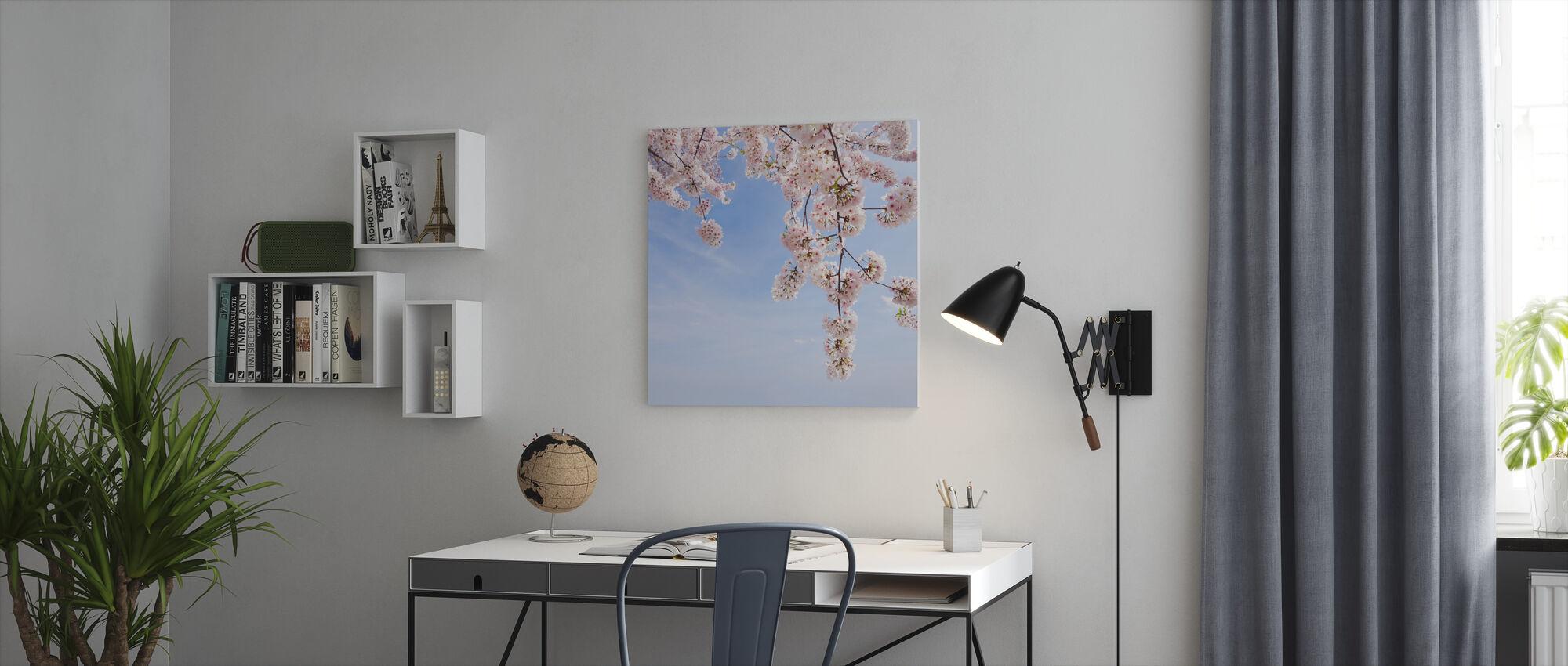 Under a Cherry Tree - Canvas print - Office
