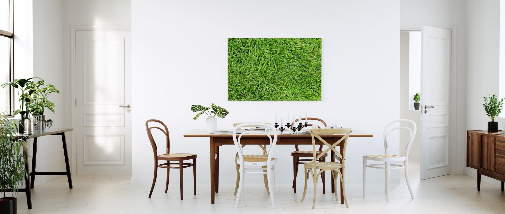 Fresh Green Grass - Canvas print - Kitchen