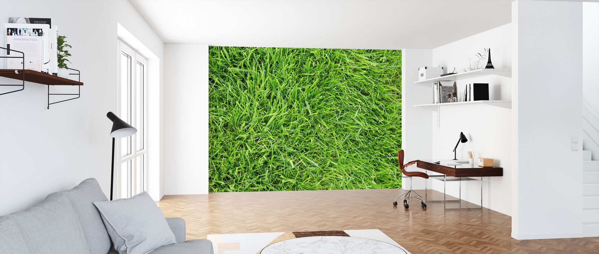 Fresh Green Grass - Wallpaper - Office