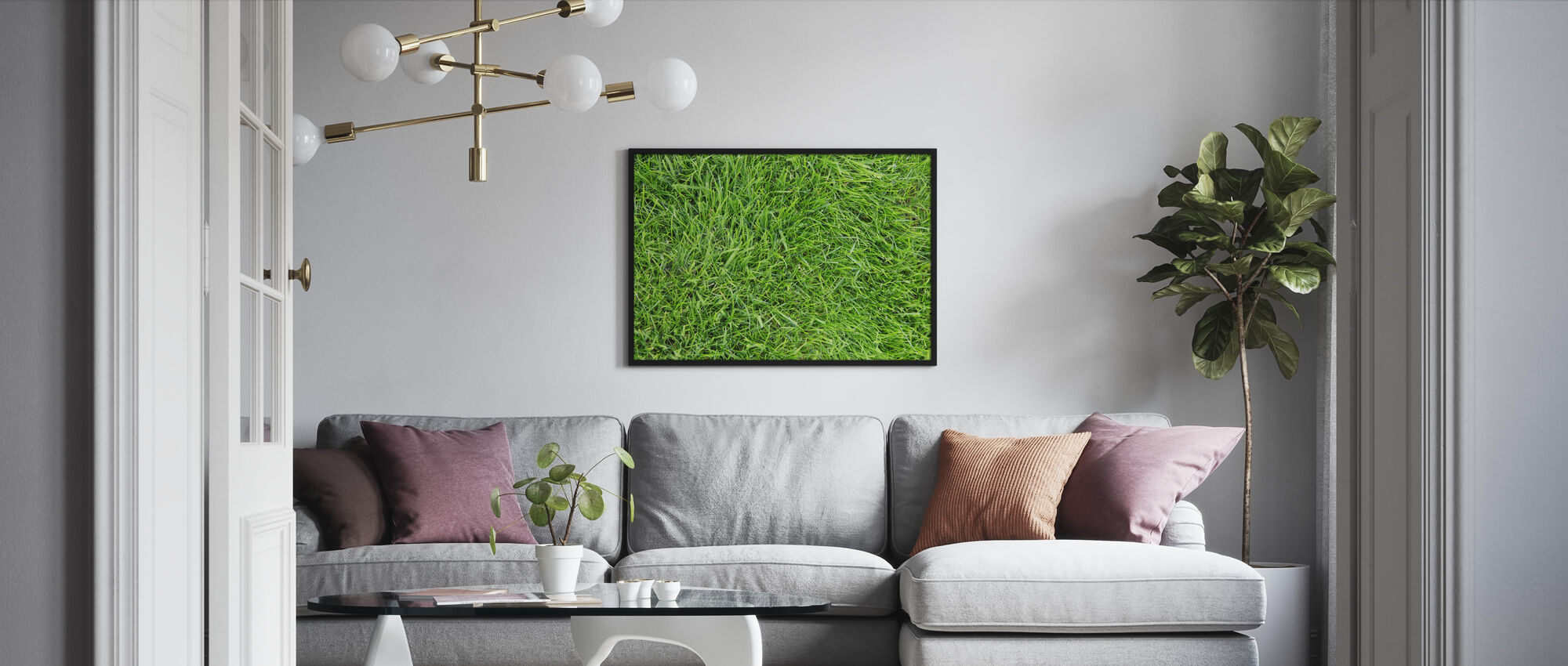 Fresh Green Grass - Framed print - Living Room