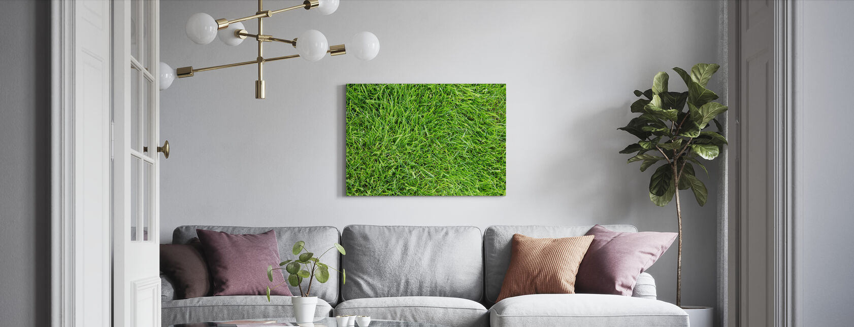 Fresh Green Grass - Canvas print - Living Room