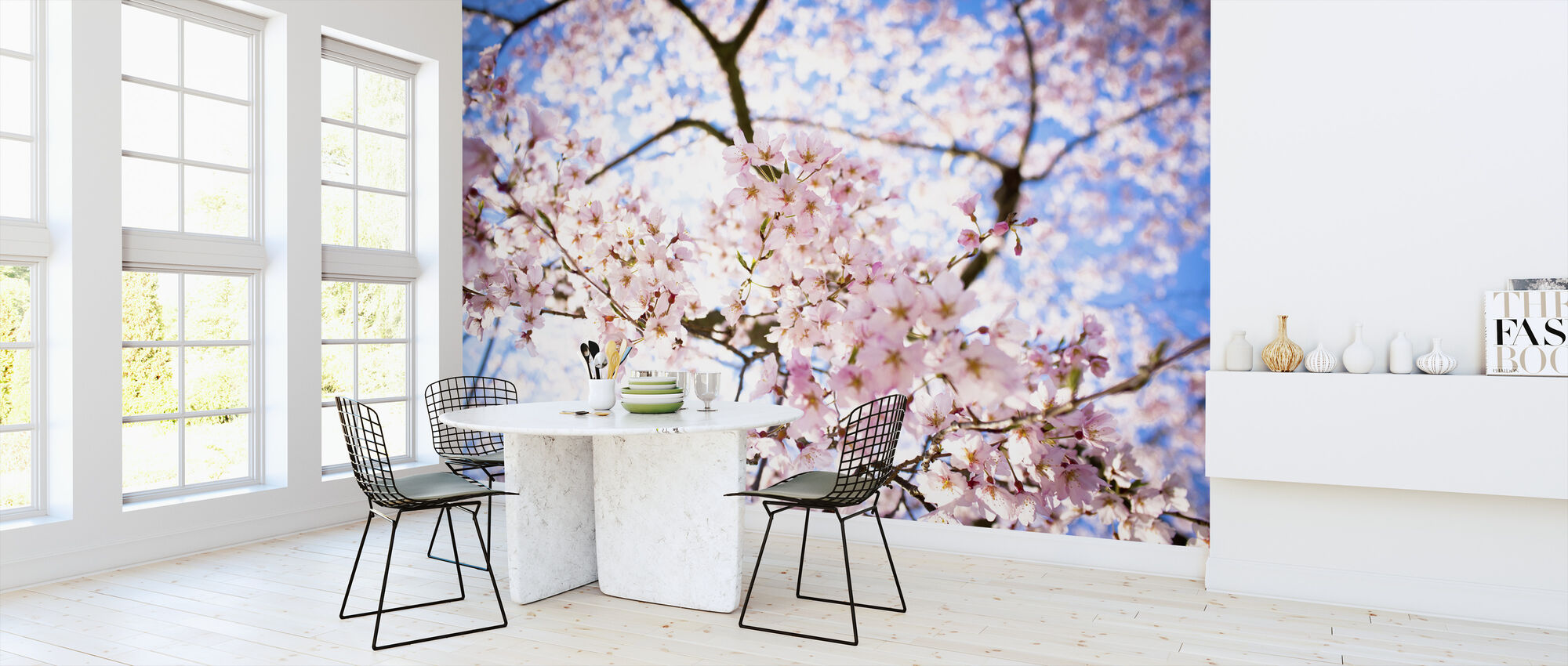 Weeping Cherry Tree - Wallpaper - Kitchen