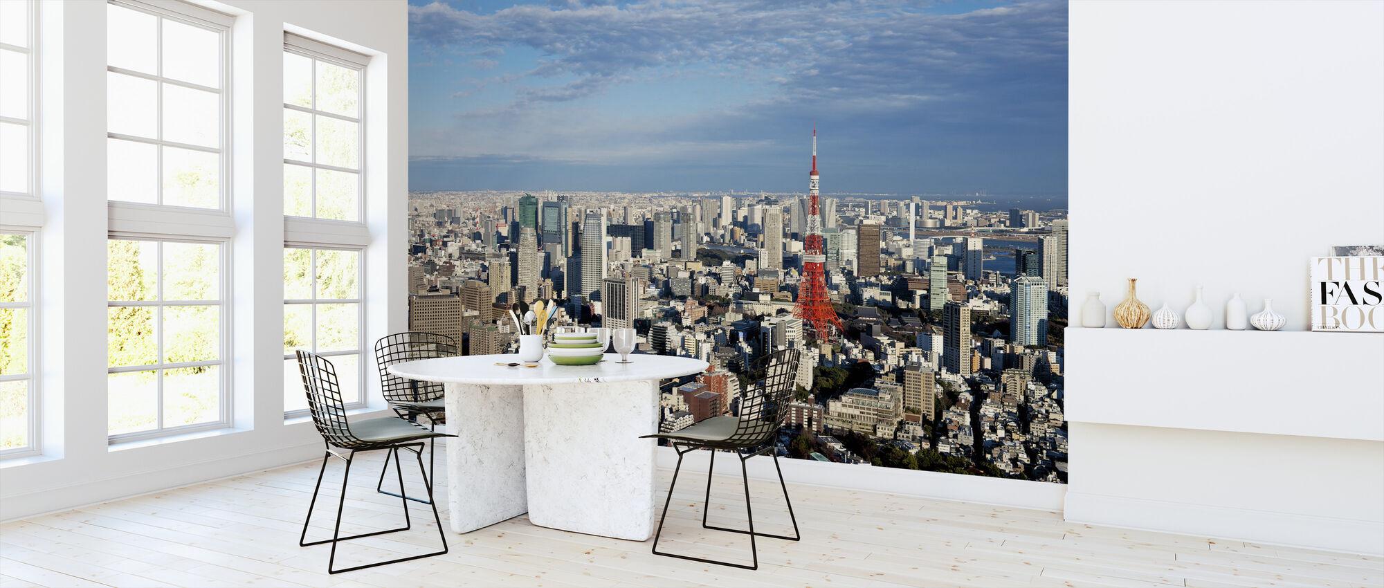 Tokyo View på dagsljus - Tapet - Kök