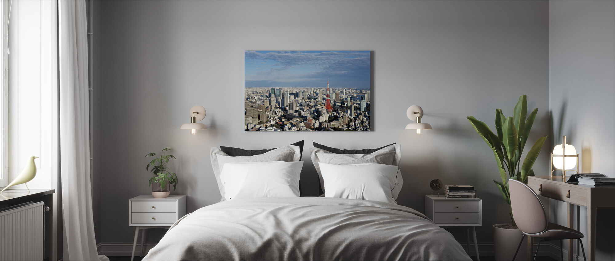 Tokyo View at Daylight - Canvas print - Bedroom