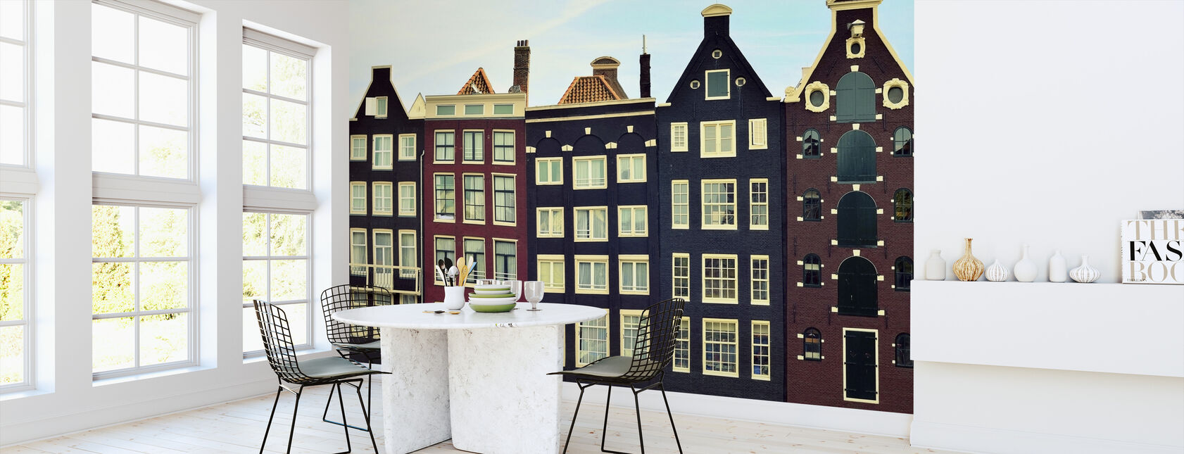 Amsterdamse Huizen - Behang - Keuken