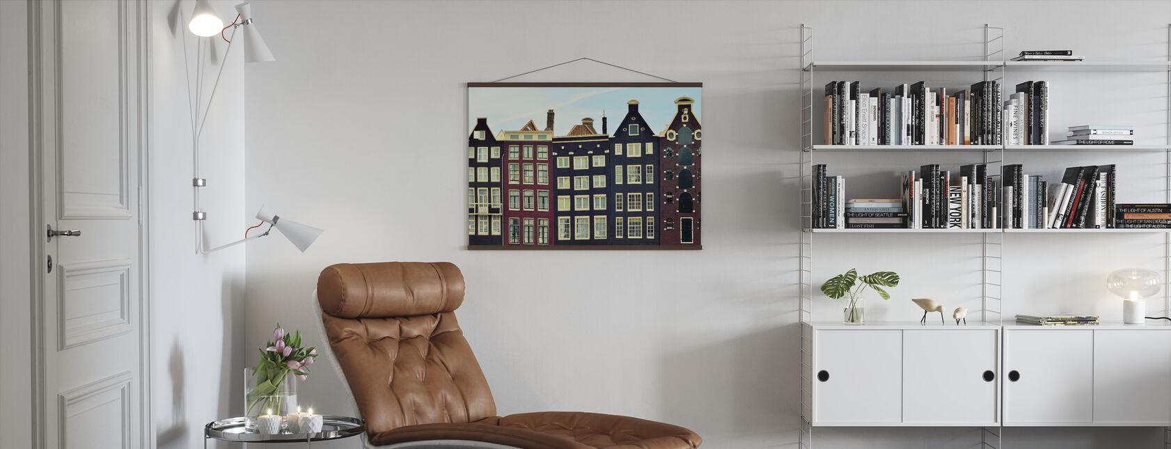 Amsterdam Houses - Poster - Living Room