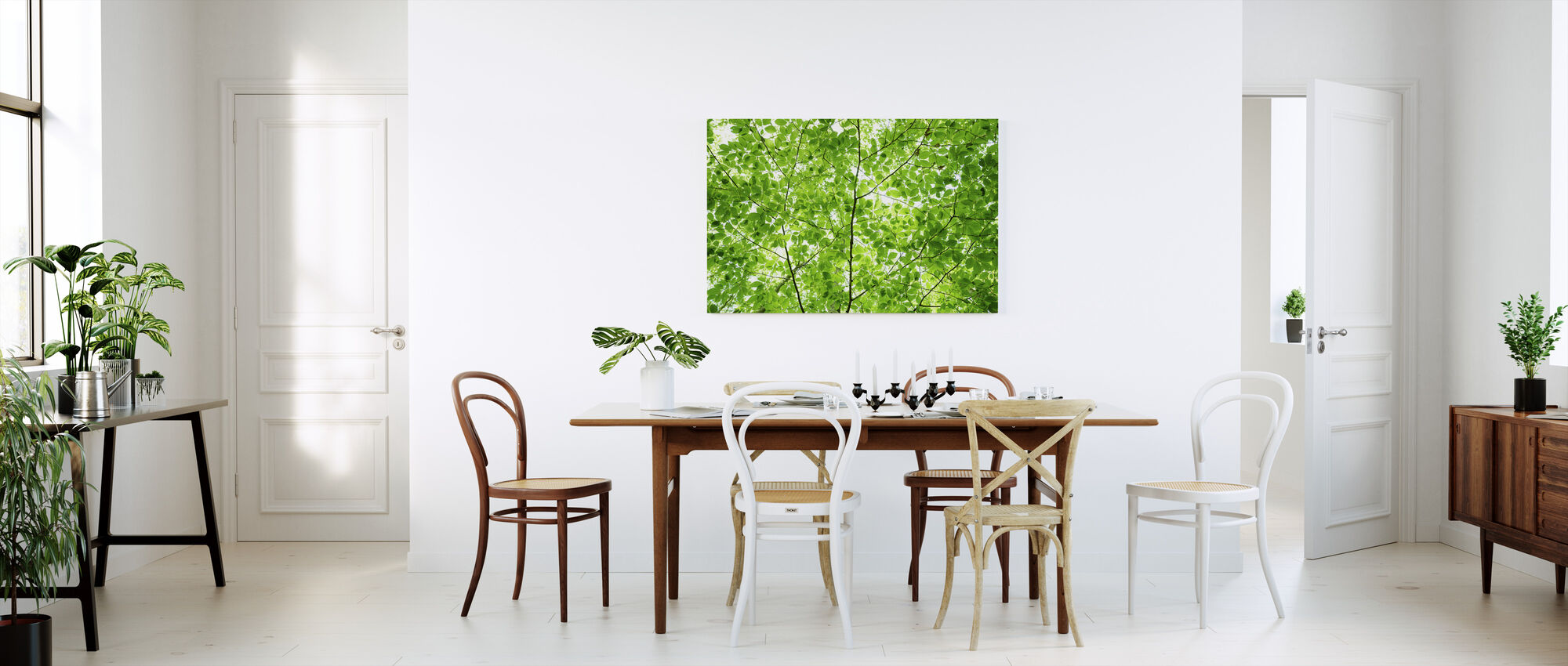 Wall of Fresh Leaves - Canvas print - Kitchen