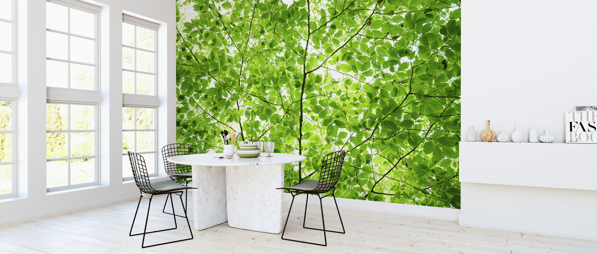 Wall of Fresh Leaves - Wallpaper - Kitchen