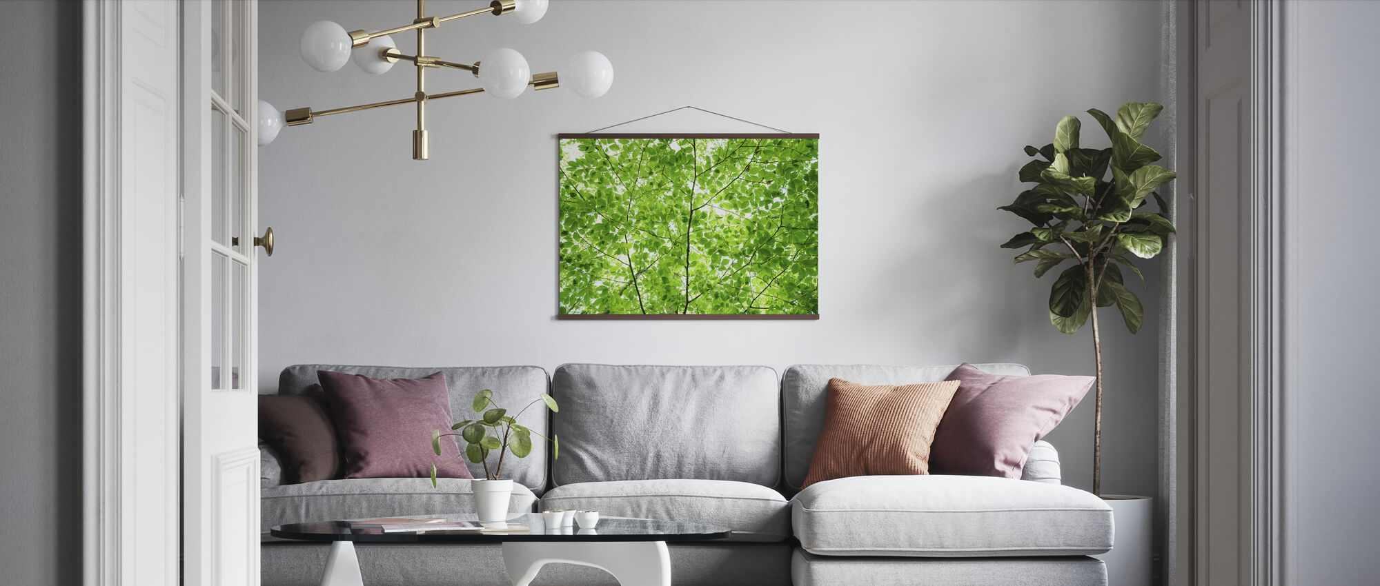 Wall of Fresh Leaves - Poster - Living Room