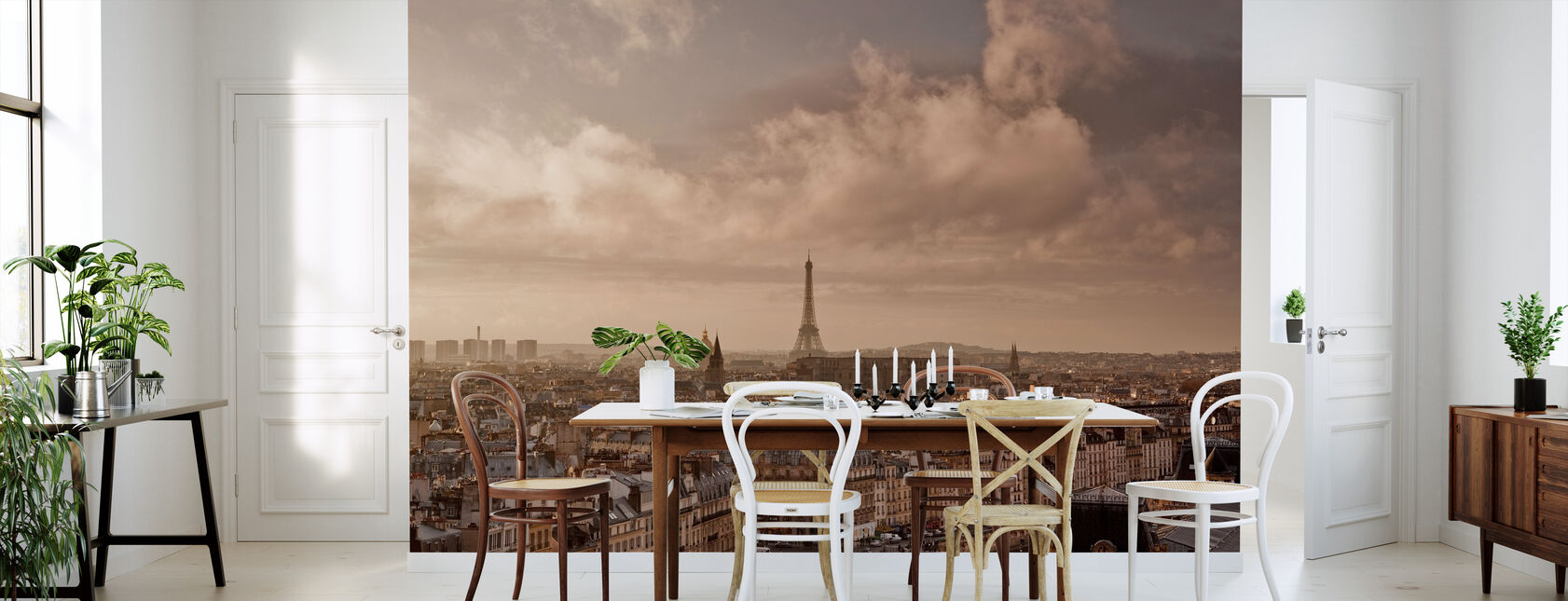 Soft Clouds Sweeping by Paris - Wallpaper - Kitchen