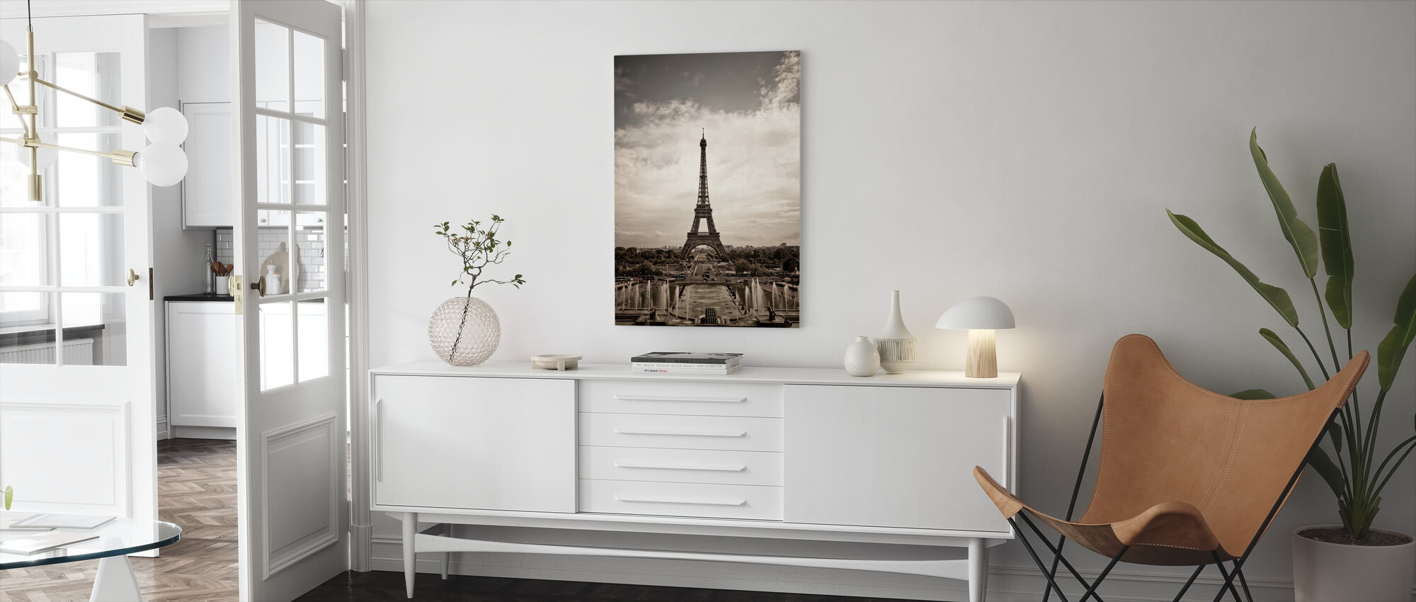 Eiffel Tower Seen From Palais de Chaillot - Canvas print - Living Room