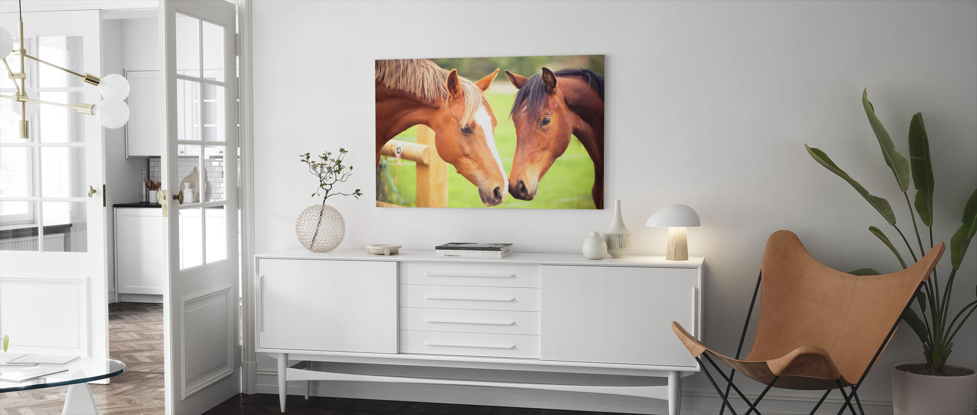 Becoming Friends - Canvas print - Living Room