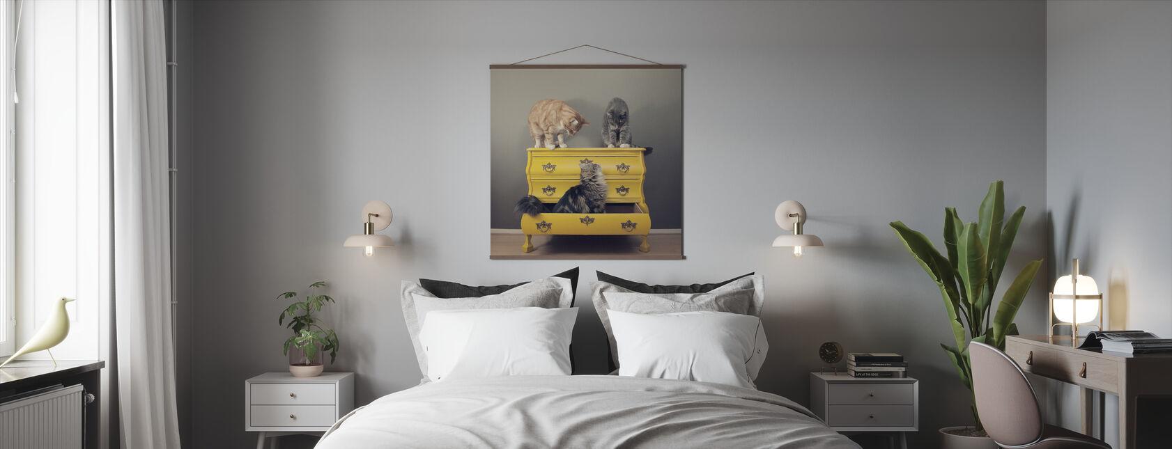 Tapaaminen keltaisessa toimistossa - Juliste - Makuuhuone