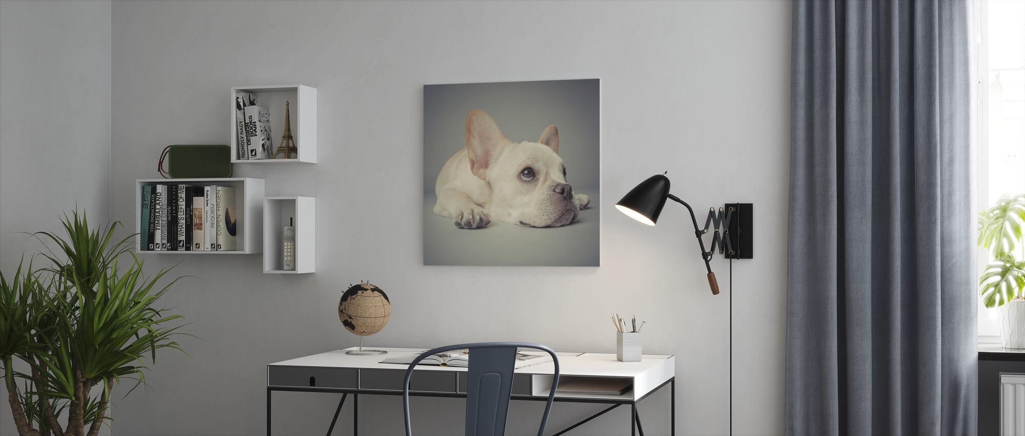 Why so Glum - Canvas print - Office