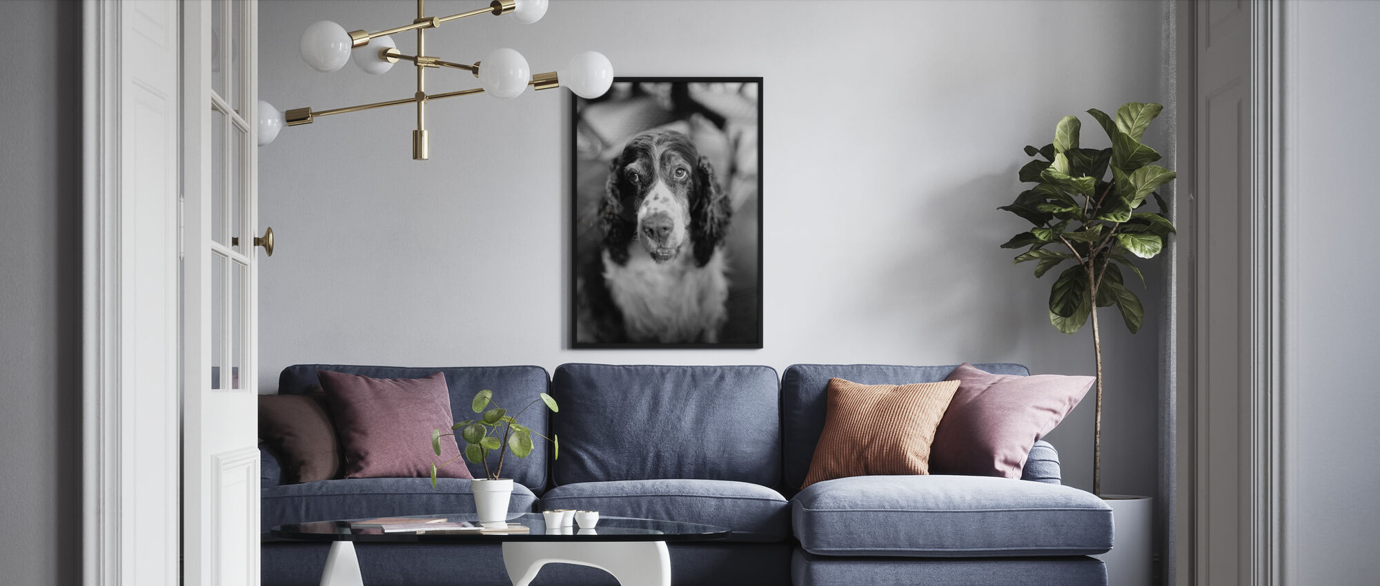 Loyal Friend - Framed print - Living Room