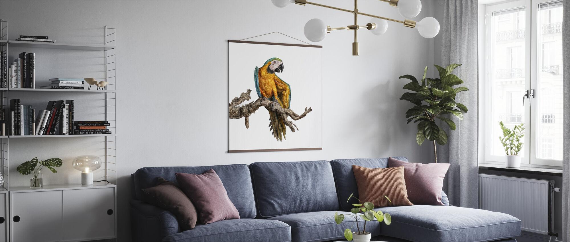 Tanzender Papagei - Poster - Wohnzimmer