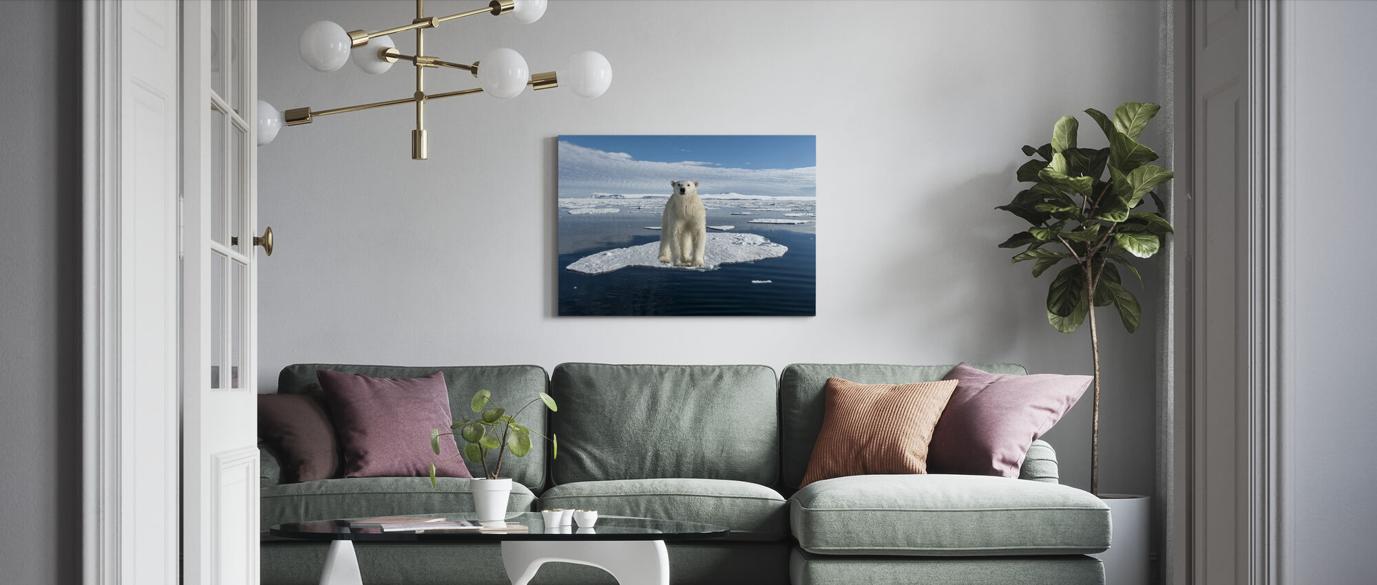 On Thin Ice - Canvas print - Living Room